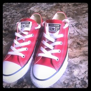 Children's Girl Red Converse Sneakers
